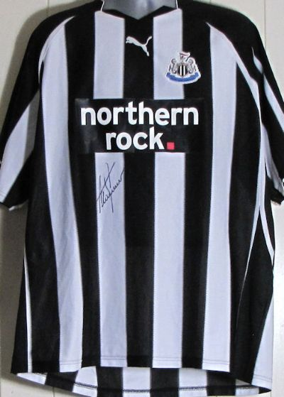 Alan Shearer Signed Football Shirt - Newcastle